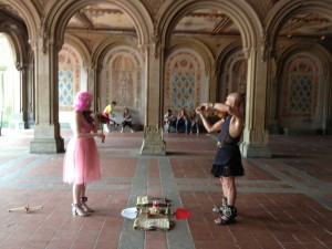 Thoth & Lila'Angelique performing at the Angel Tunnel in Central Park on July 24