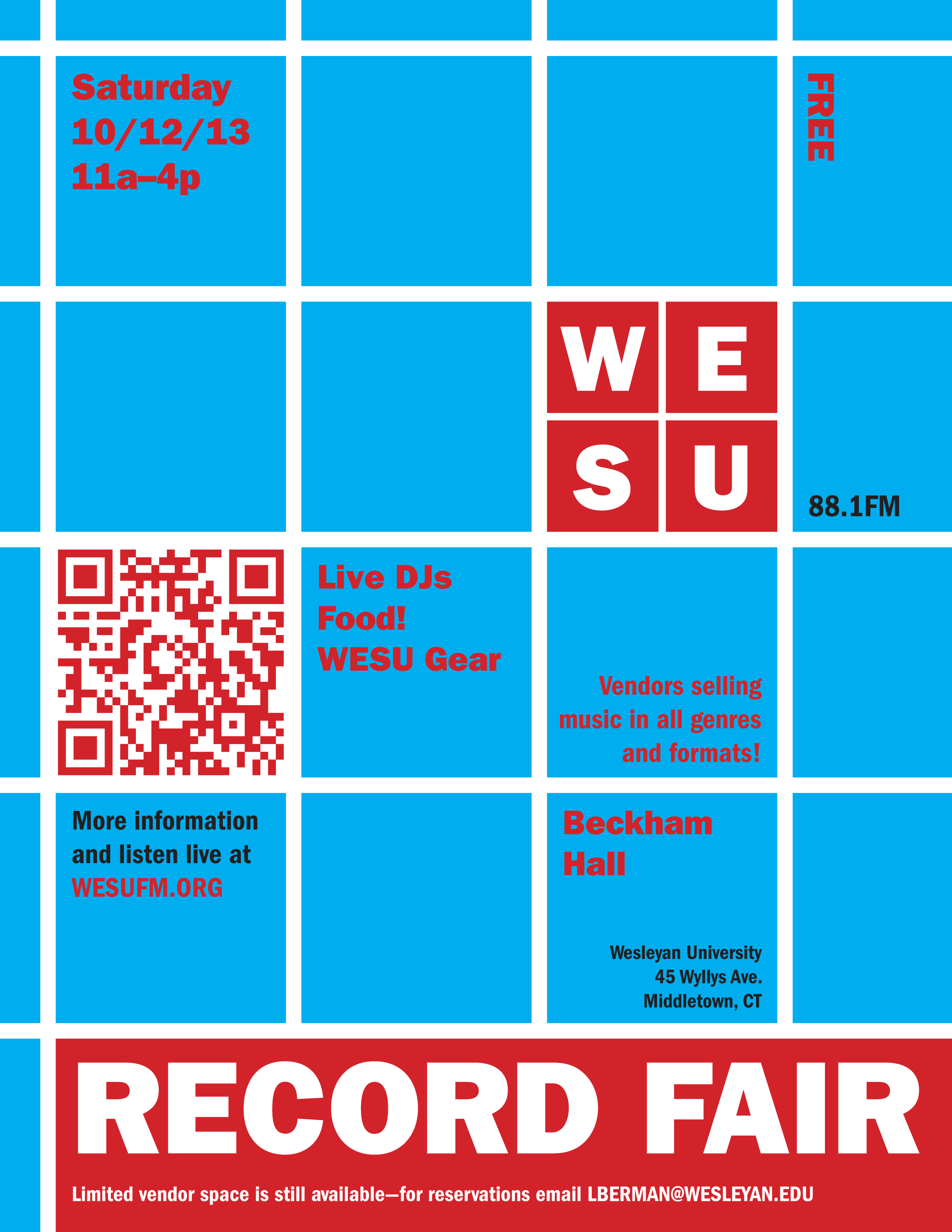 Record Fair Poster color